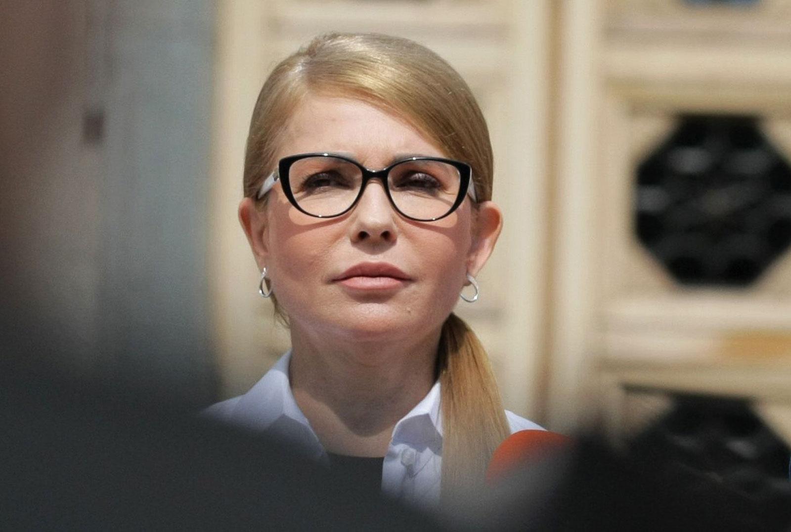 Yulia Tymoshenko attends a news conference in Kiev, Ukraine, on August 3.