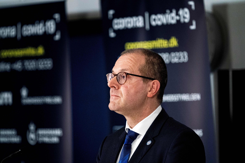 World Health Organization European director Hans Kluge, speaks during a joint press conference in Copenhagen, Denmark, on March 27, 2020.