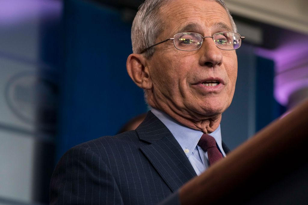 Anthony Fauci in the White House Briefing Room on January 31 in Washington, DC.
