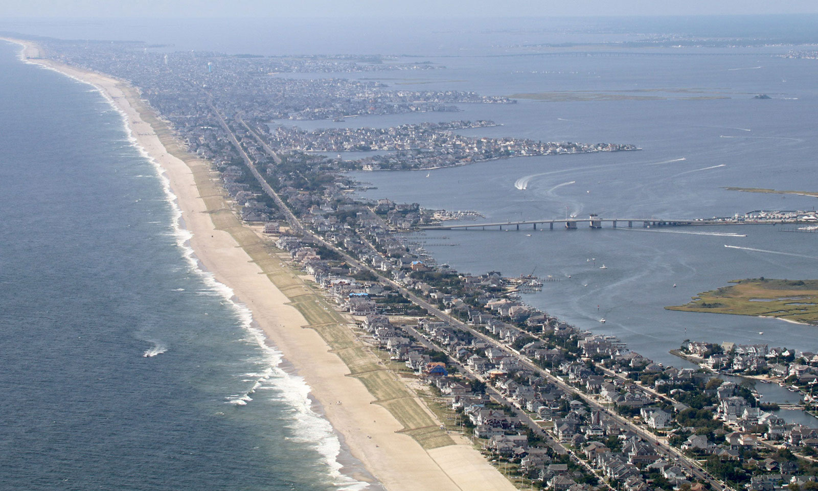 An aerial view of Mantoloking, New Jersey, in 2019.