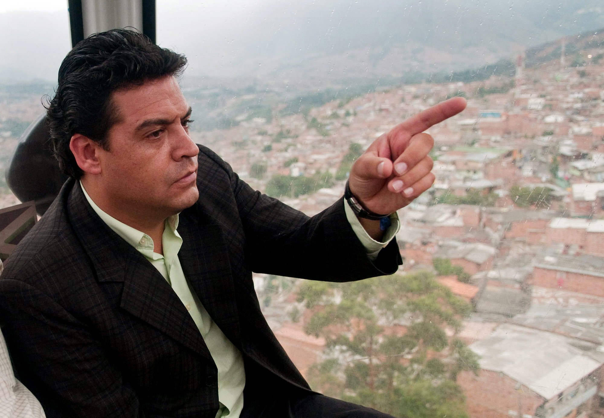 Elected Mayor of La Paz Luis Revilla Herrero during a visit in the city of Medellin, Colombia on May 3, 2010.