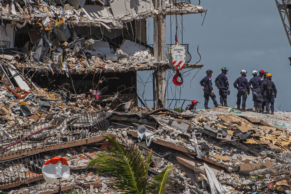 Search and Rescue teams continue to look for possible survivors on June 27 in Surfside, Florida.