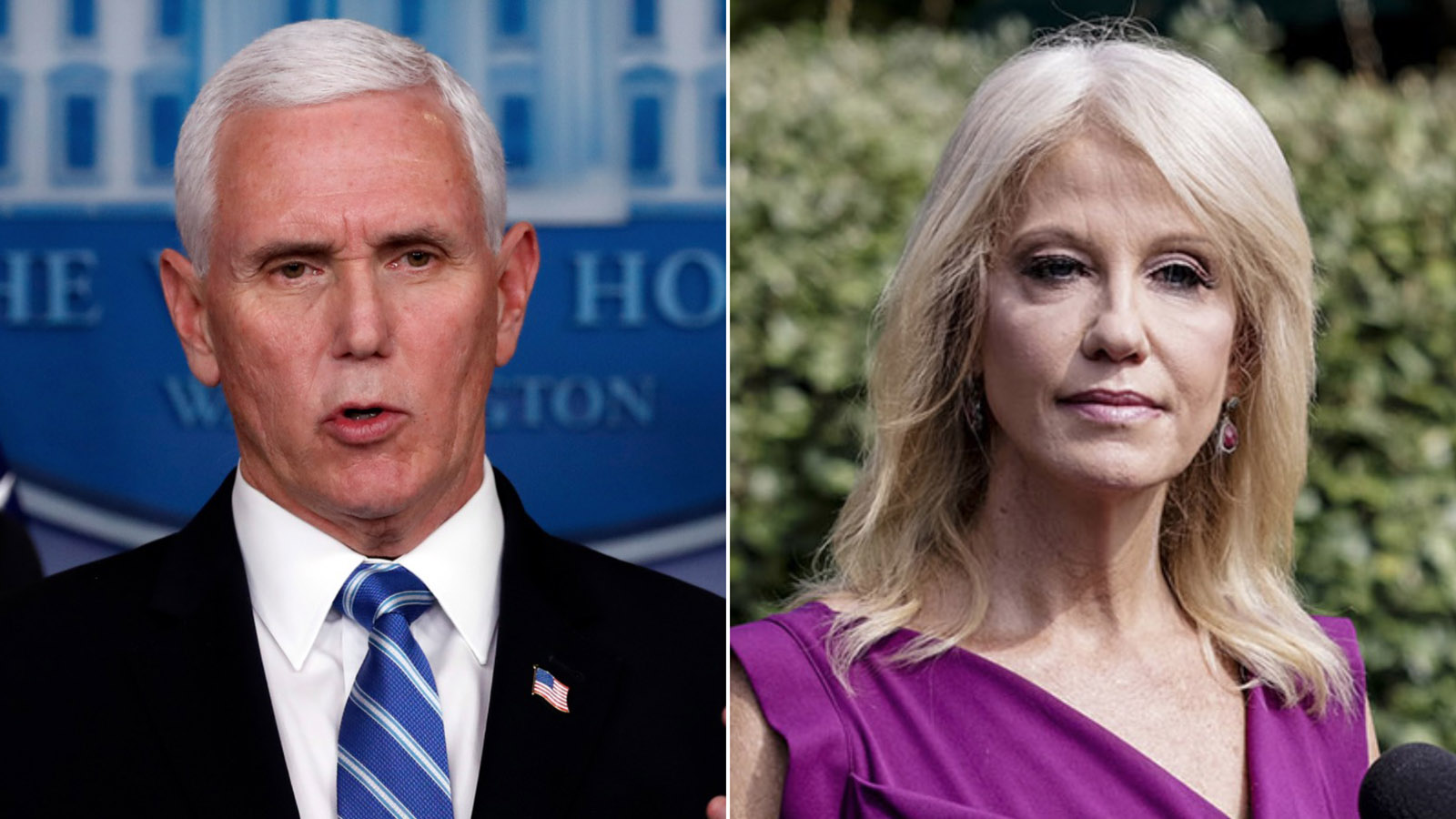 Vice President Mike Pence and Kellyanne Conway.