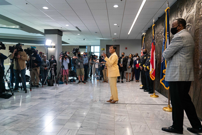 Atlanta Mayor Keisha Lance Bottoms speaks at a press conference at City Hall on May 7 in Atlanta.