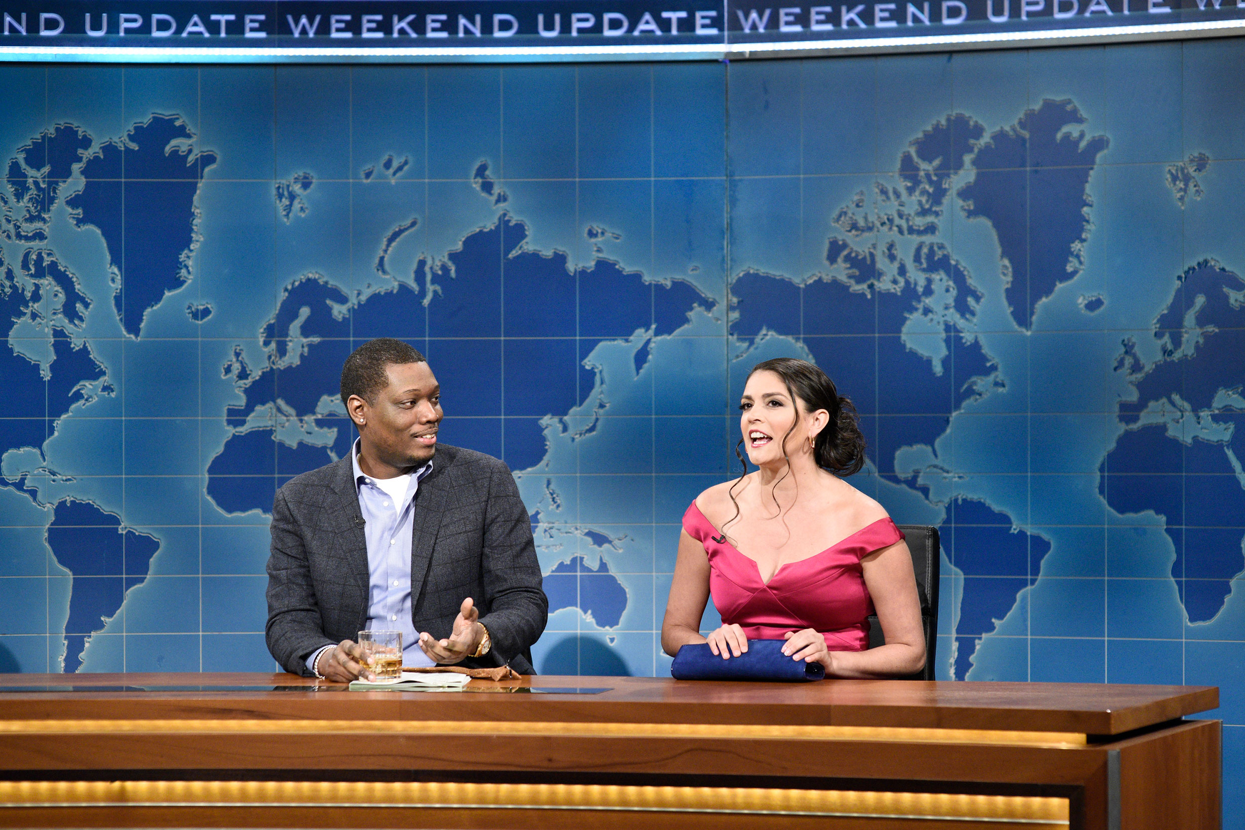 Michael Che and Cecily Strong during the March 7 episode of Saturday Night Live.