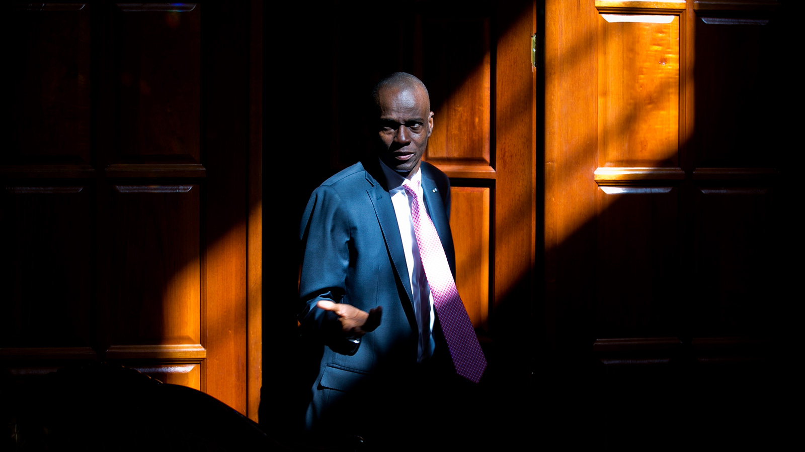 In this Feb. 7, 2020 record  photo, Haitian President Jovenel Moise arrives for an interrogation  astatine  his location  successful  Petion-Ville.