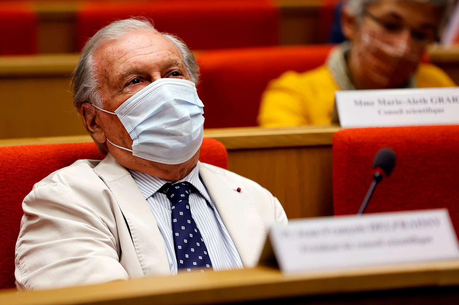 French physician Jean-Francois Delfraissy, head of France's scientific council on Covid-19 is seen at the Senate in Paris, on September 15, 2020.