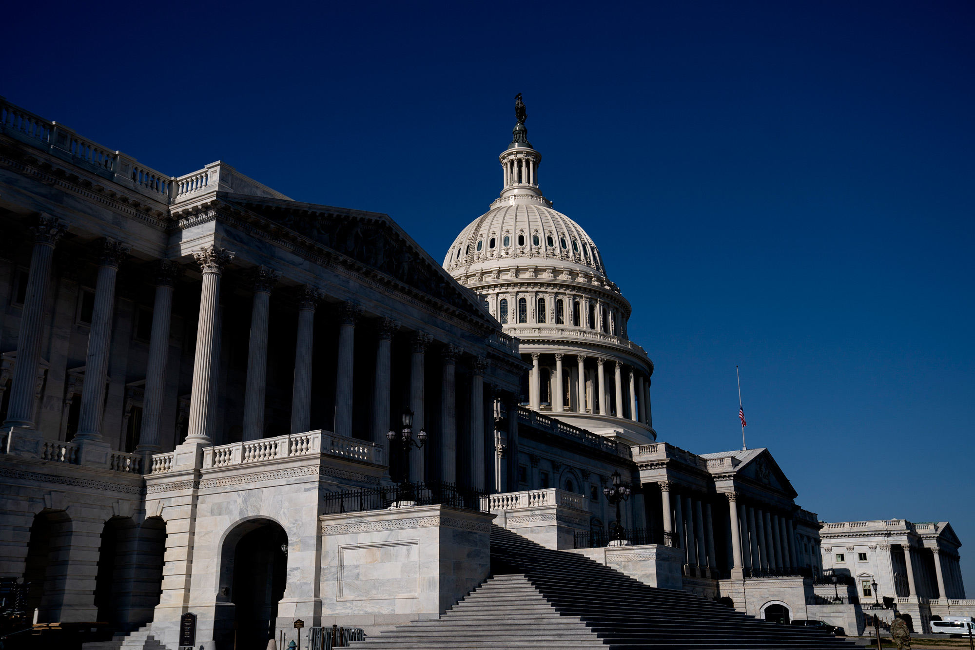 The U.S. Capitol stands on January 14 in Washington, DC.