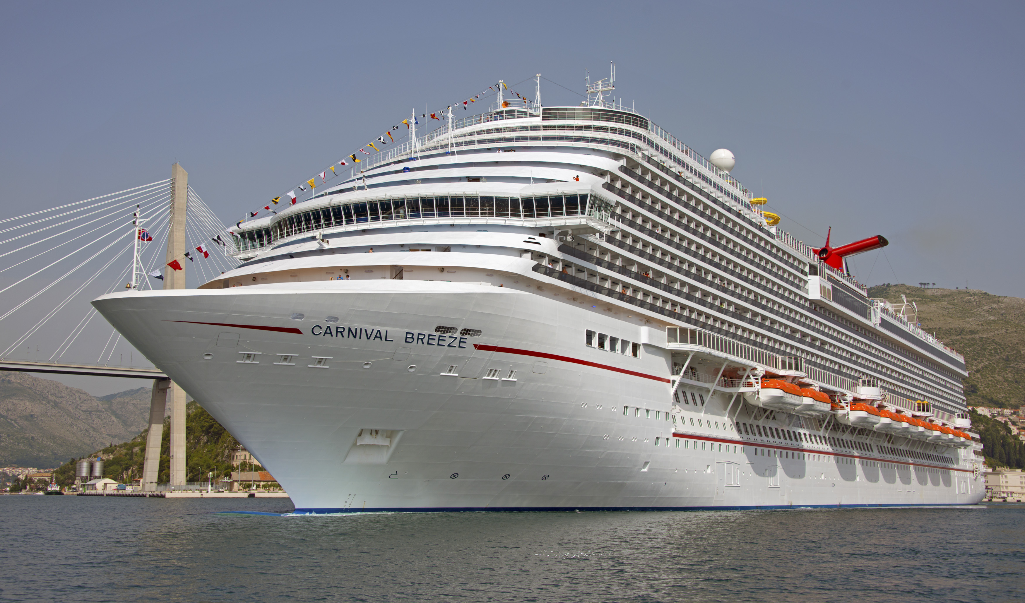 The Carnival Breeze is pictured in 2012