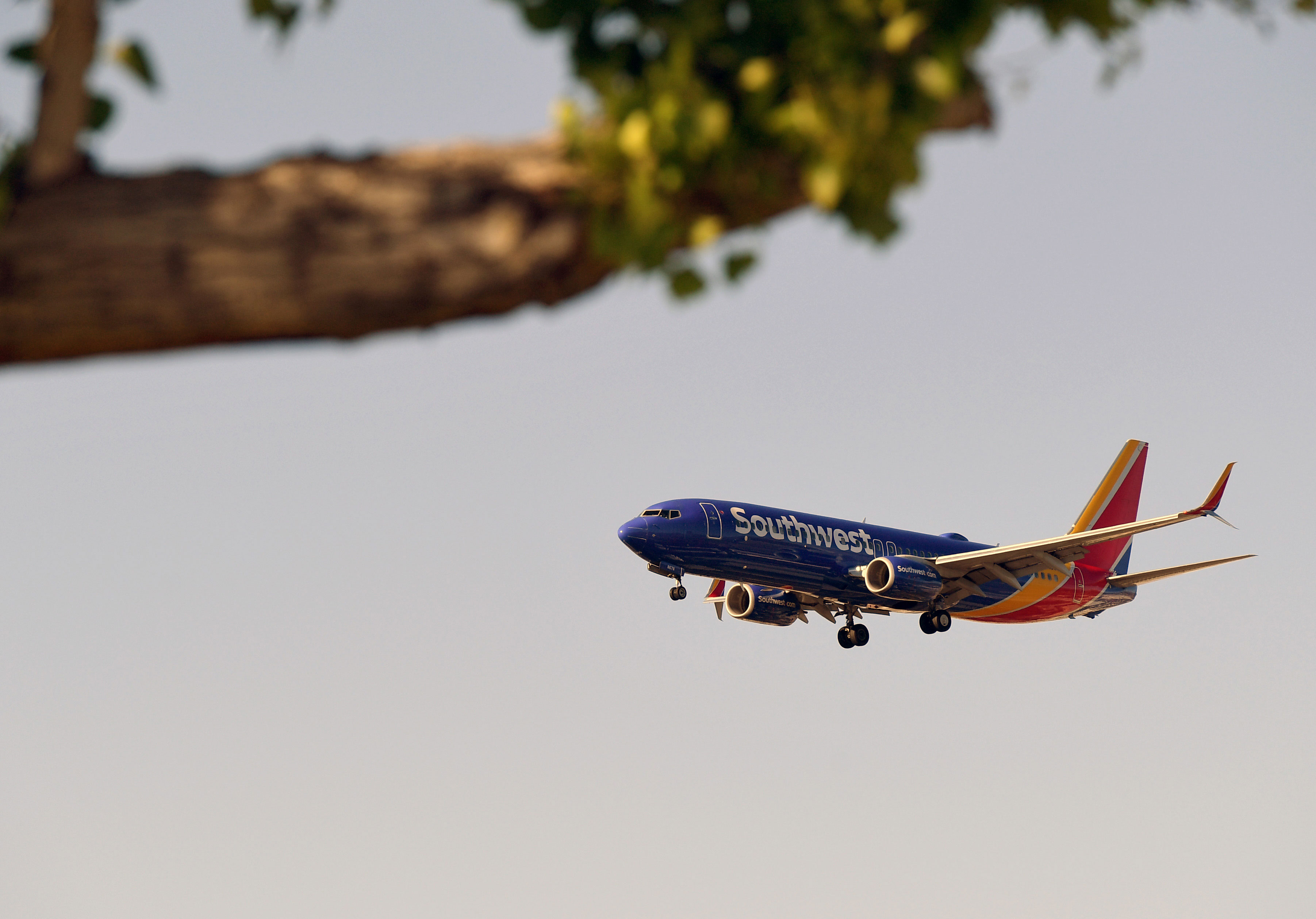 A Southwest Airlines plane prepares to land at McCarran International Airport in Nevada on May 25.
