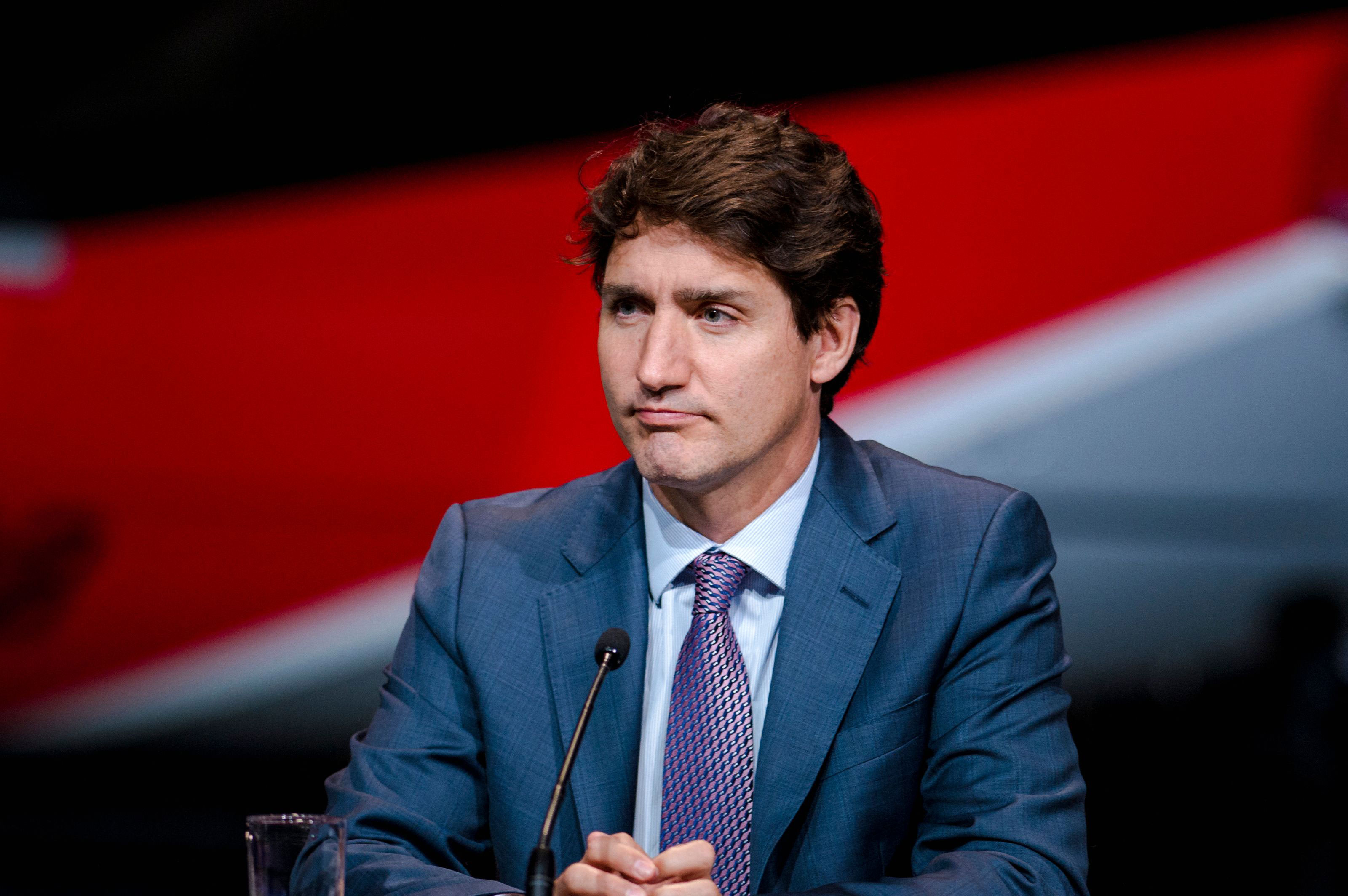 Canadian Prime Minister Justin Trudeau holds a press conference in Montreal on July 15, 2021.