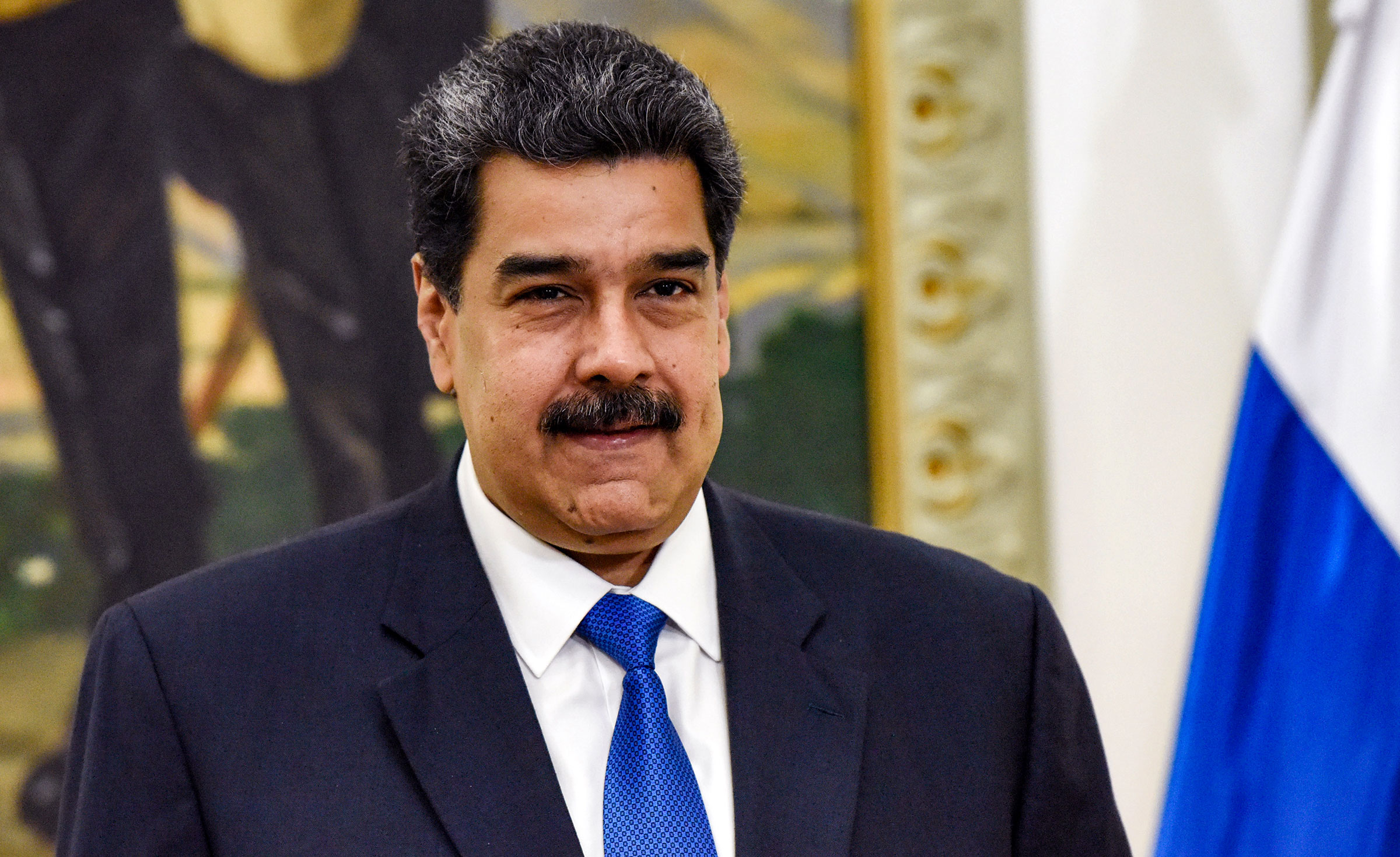 Venezuelan President Nicolas Maduro attends a meeting at the Miraflores Palace in Caracas, Venezuela on February 7.
