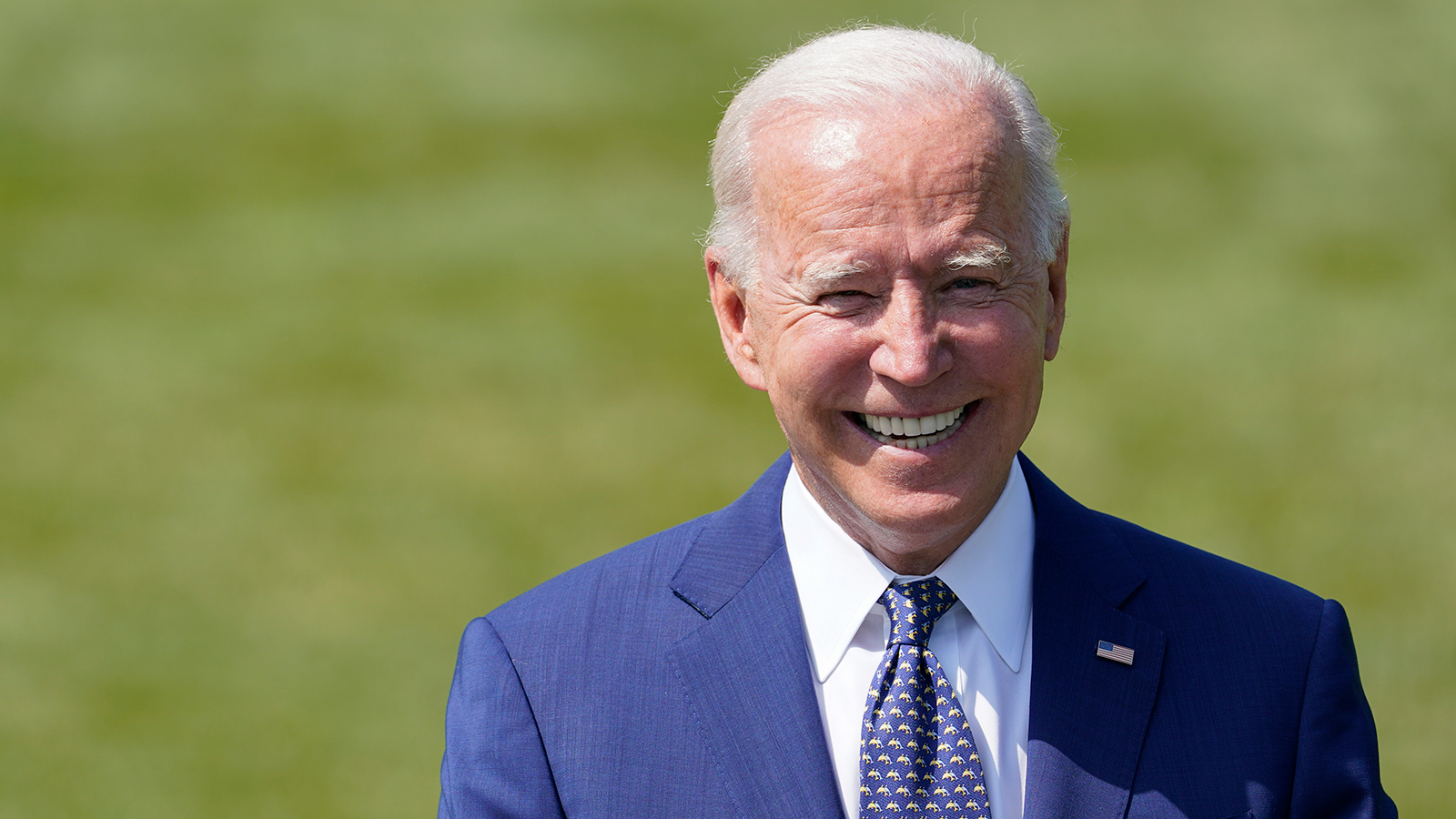 President Joe Biden speaks on the South Lawn of the White House in Washington on August 5.