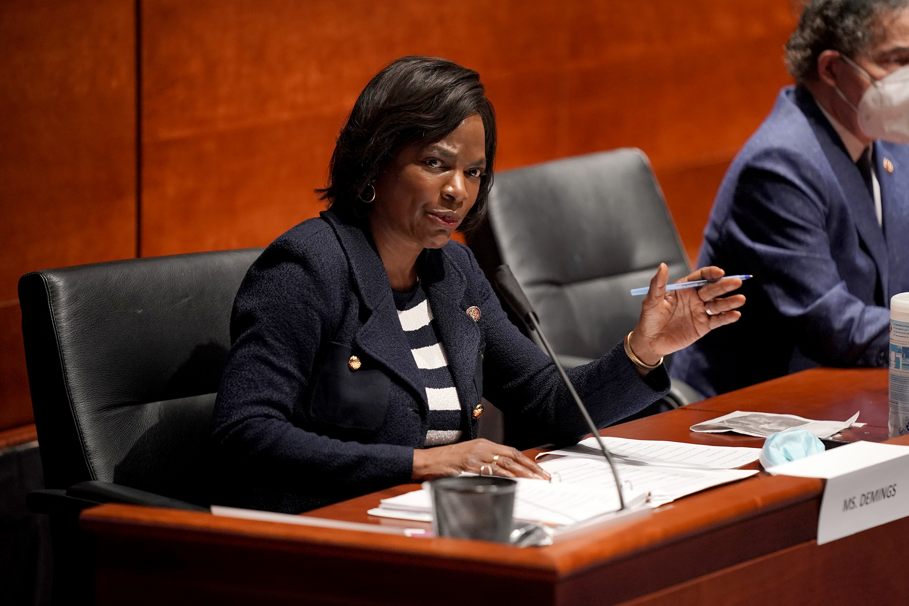 U.S. Rep. Val Demings (D-FL) speaks during a House Judiciary Committee hearing on police brutality and racial profiling on June 10 in Washington.