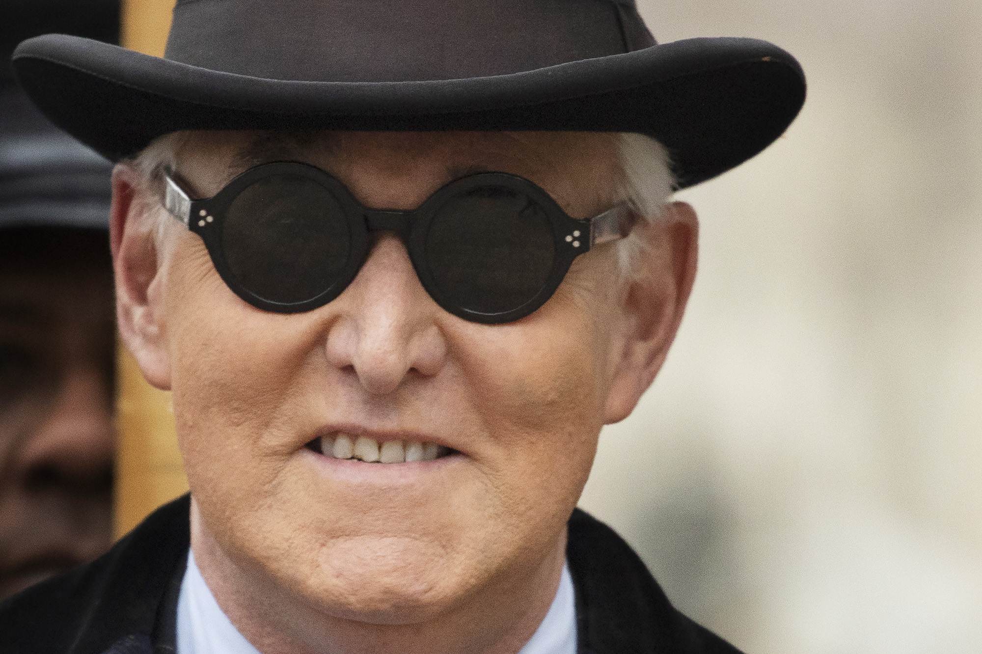 Roger Stone arrives for his sentencing at federal court on February 20, in Washington, DC.