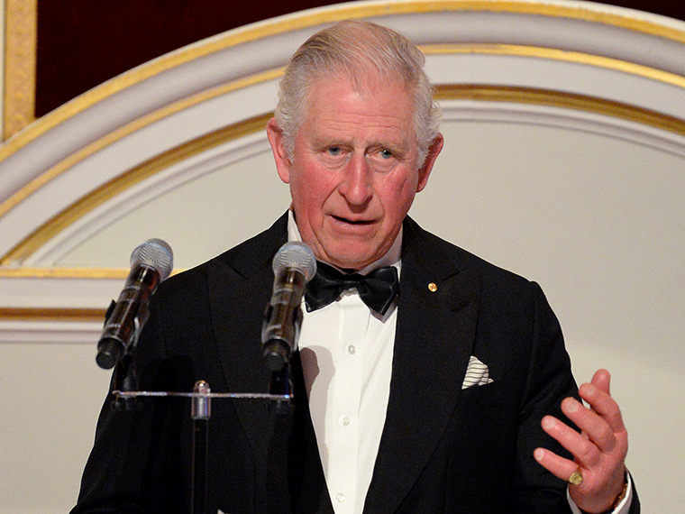 Prince Charles makes a speech as he attends a dinner in aid of the Australian bushfire relief and recovery effort at Mansion House on March 12 in London.