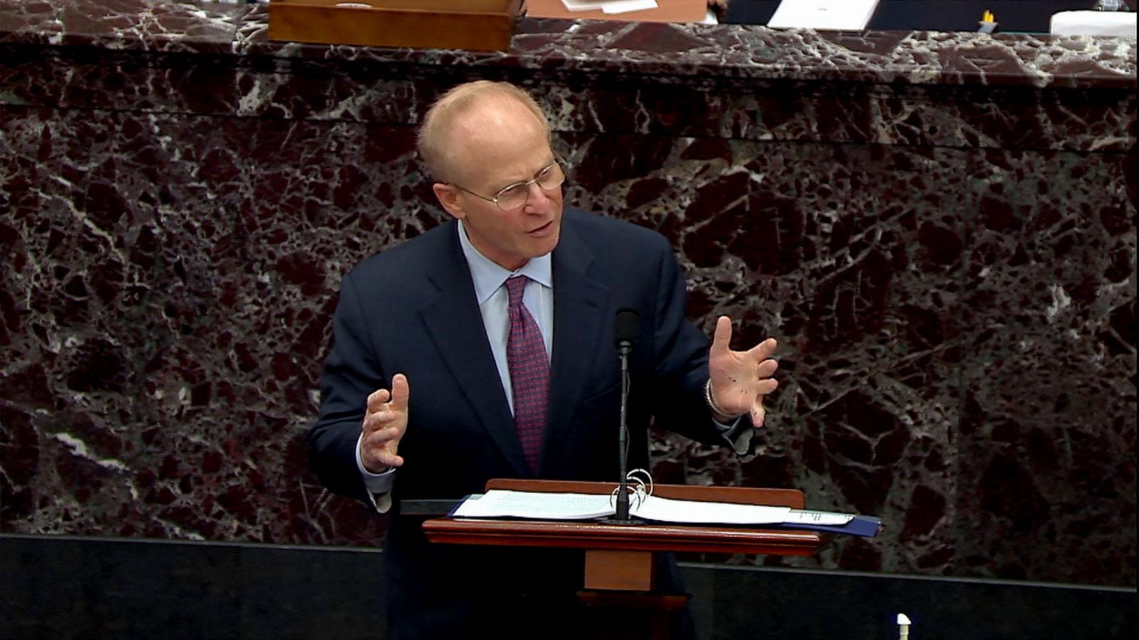 David Schoen speaks on the Senate floor.