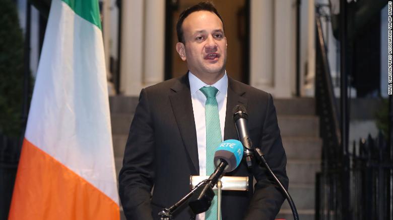 Ireland's Taoiseach Leo Varadkar speaks at Blair House in Washington, D.C. on Thursday.