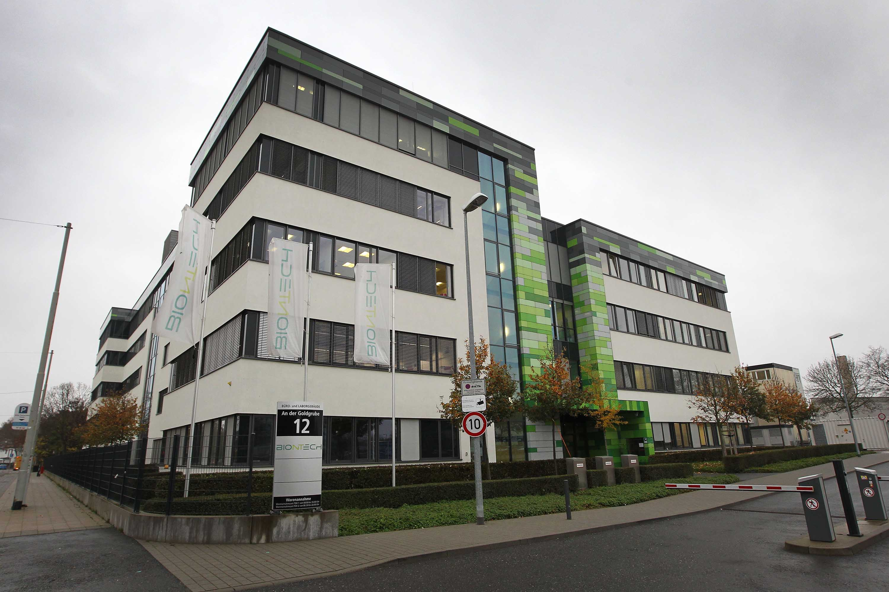 The headquarters of German company BioNtech is pictured in Mainz, Germany, on November 12.