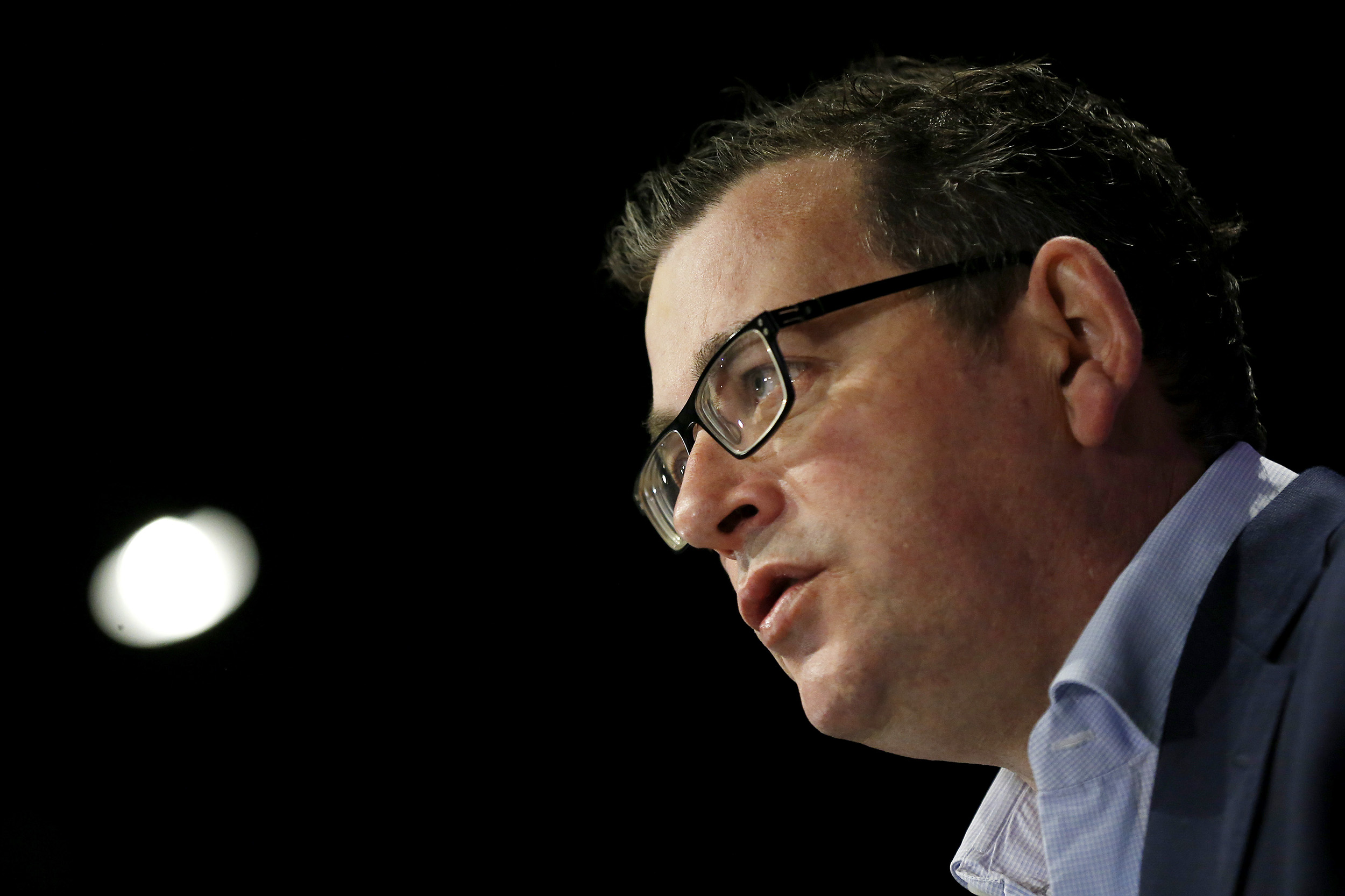 Victoria Premier Daniel Andrews addresses the media at the daily briefing on July 31, in Melbourne, Australia.