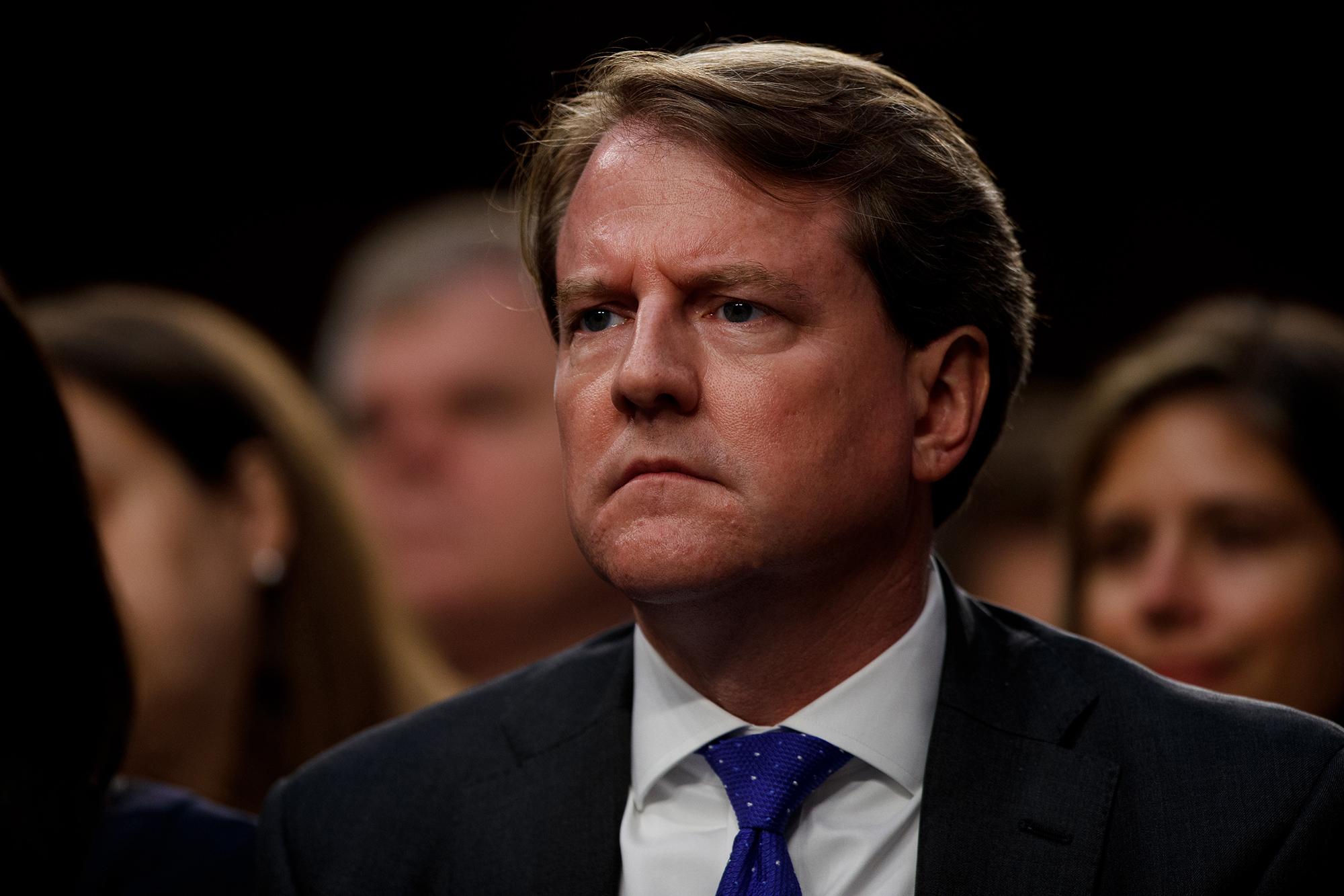 Former White House counsel Don McGahn attends the confirmation hearing for Supreme Court Justice Brett Kavanaugh on Sept. 4, 2018.