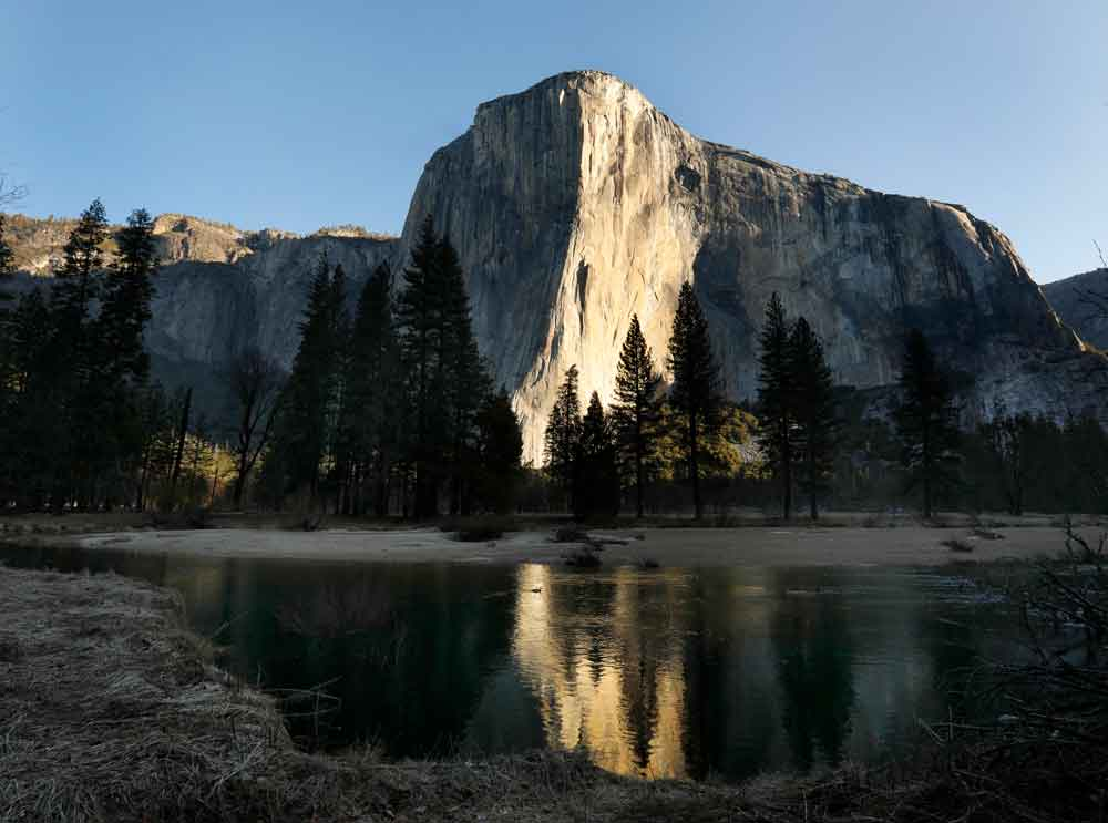 Yosemite National Park is seen closed to visitors on Saturday, April 11.