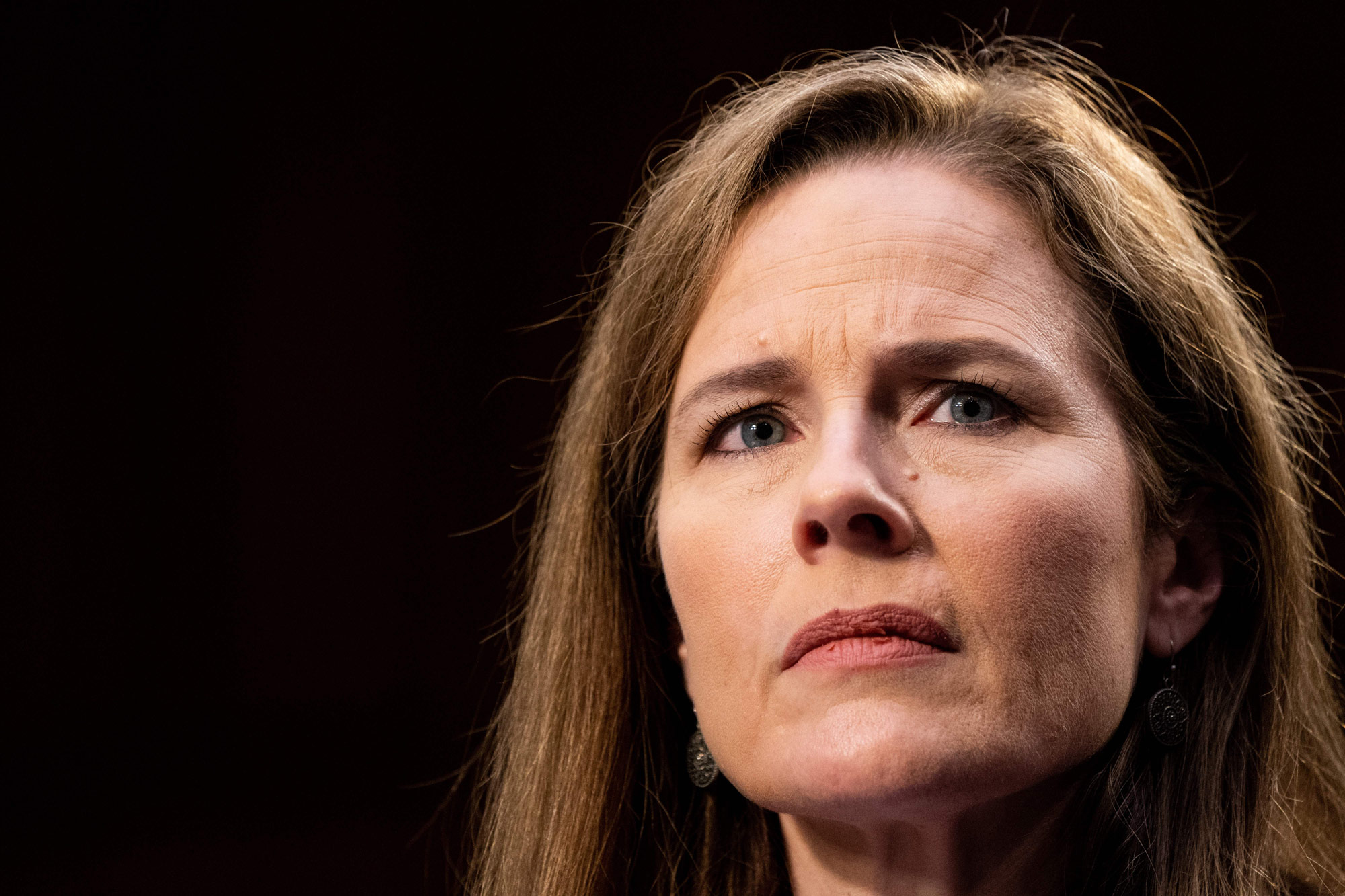 Supreme Court nominee Judge Amy Coney Barrett testifies on the third day of her confirmation hearing before the Senate Judiciary Committee on Capitol Hill on October 14 in Washington, DC.