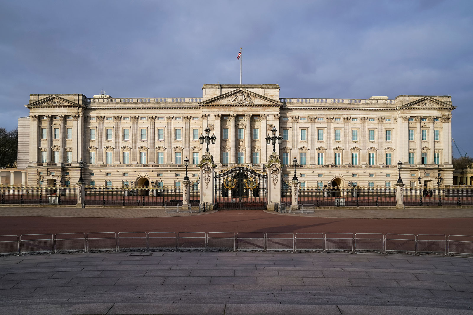 The exterior of Buckingham Palace in London on March 29.