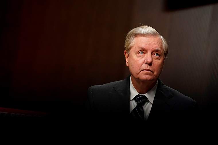 Senator Lindsey Graham, a Republican from South Carolina and chairman of the Senate Judiciary Committee, waits to begin a hearing in Washington, DC, on September 30, 2020.