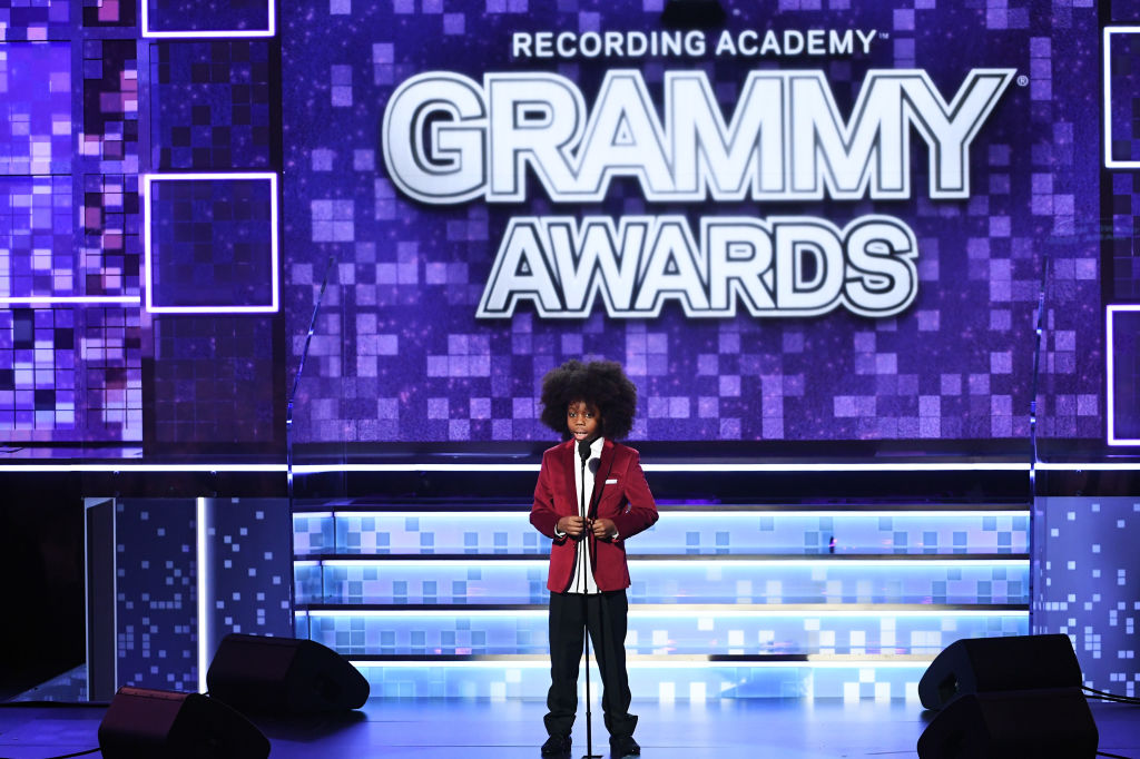 Raif-Henok Emmanuel Kendrick speaks onstage during the 61st Annual GRAMMY Awards at Staples Center on Feb. 10, 2019 in Los Angeles, California.