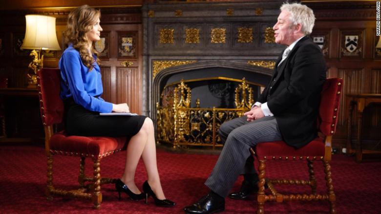 John Bercow with CNN's Bianca Nobilo.