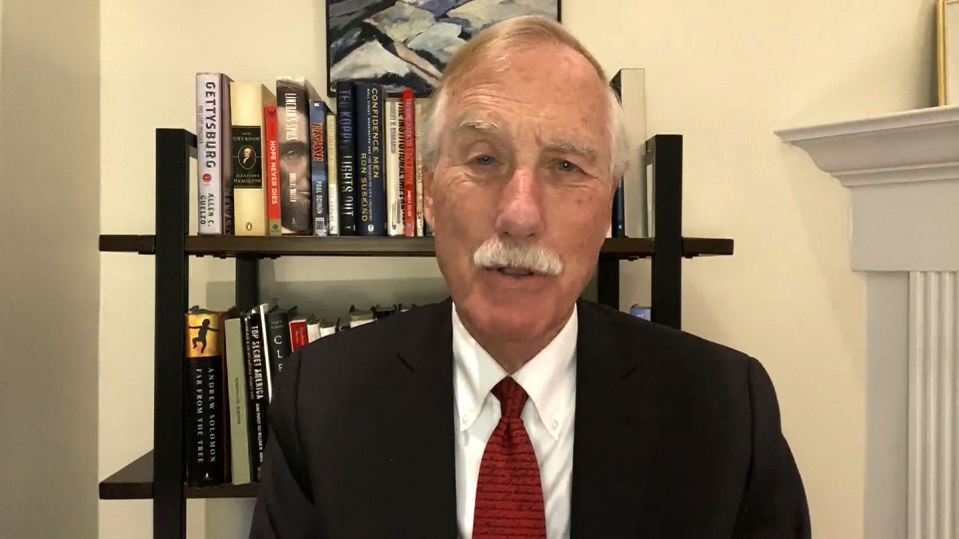 Sen. Angus King speaks with CNN on Monday, October 26.