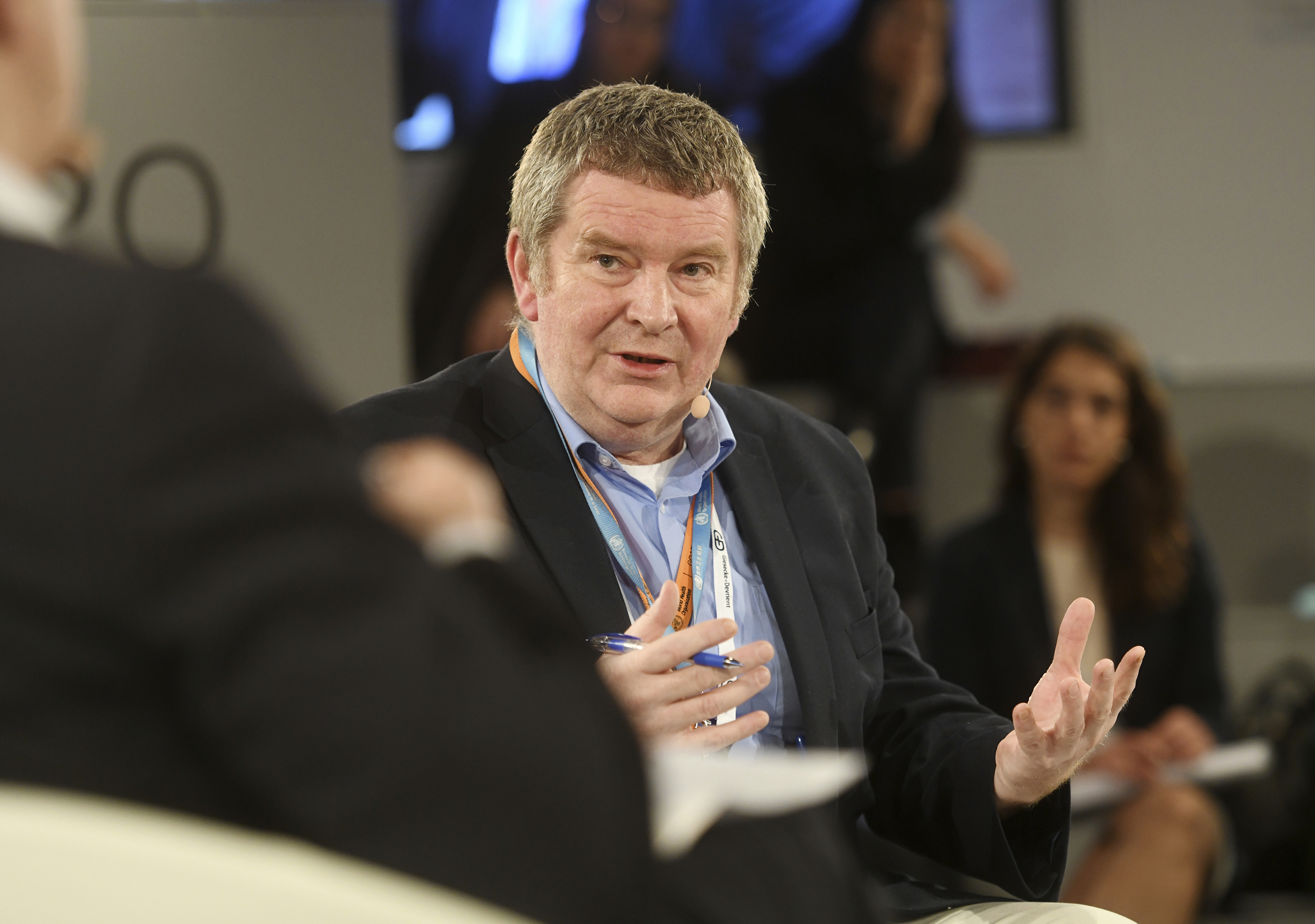 Mike Ryan, Executive Director of the World Health Organization WHO for Health Emergencies, speaks on the second day of the 56th Munich Security Conference, on Saturday, February 15.