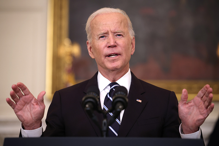 U.S. President Joe Biden in the State Dining Room of the White House as he spoke about combatting the coronavirus pandemic on September 9, 2021.