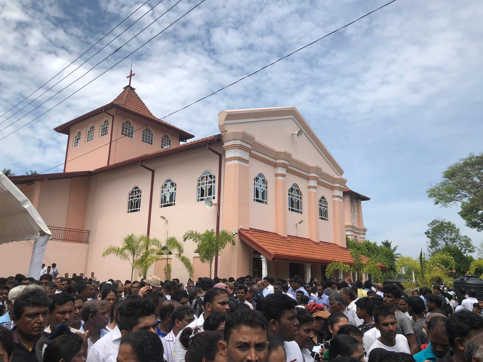 St. Sebastian's Church in Negombo, the site of one of the targeted bombings on Sunday.