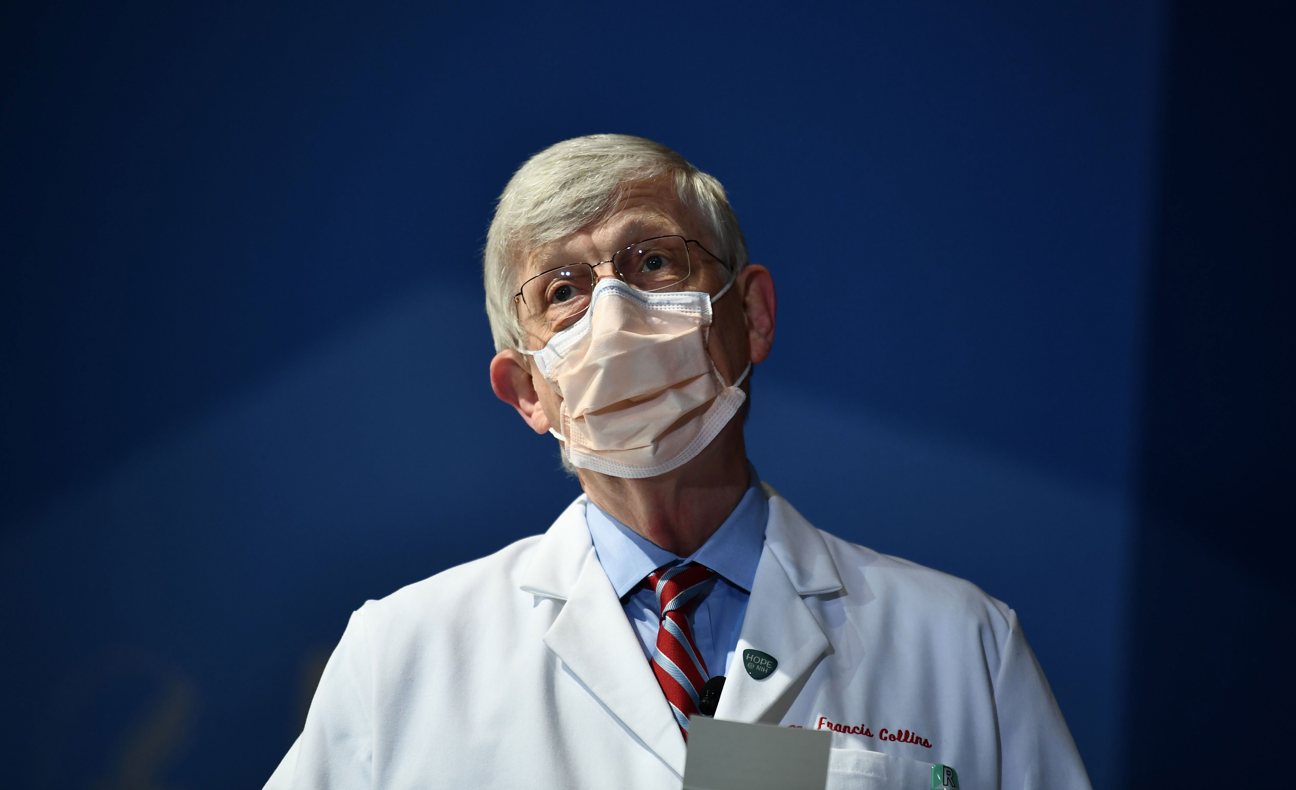 National Institutes of Health Director Dr. Francis Collins in Bethesda, Maryland, on January 26.
