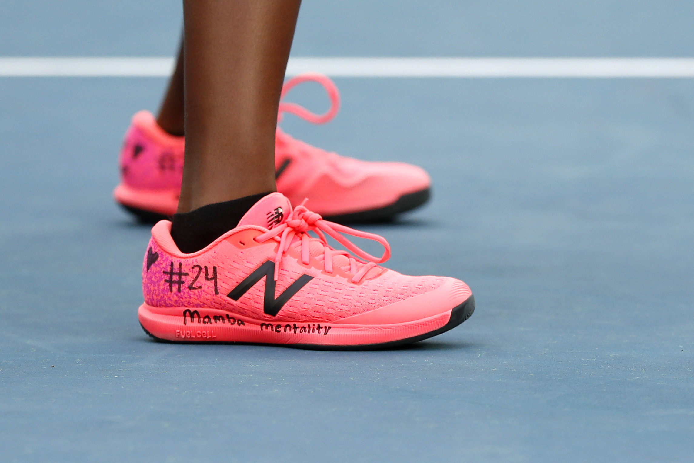 Coco Gauff wrote on her trainers in tribute to Bryant