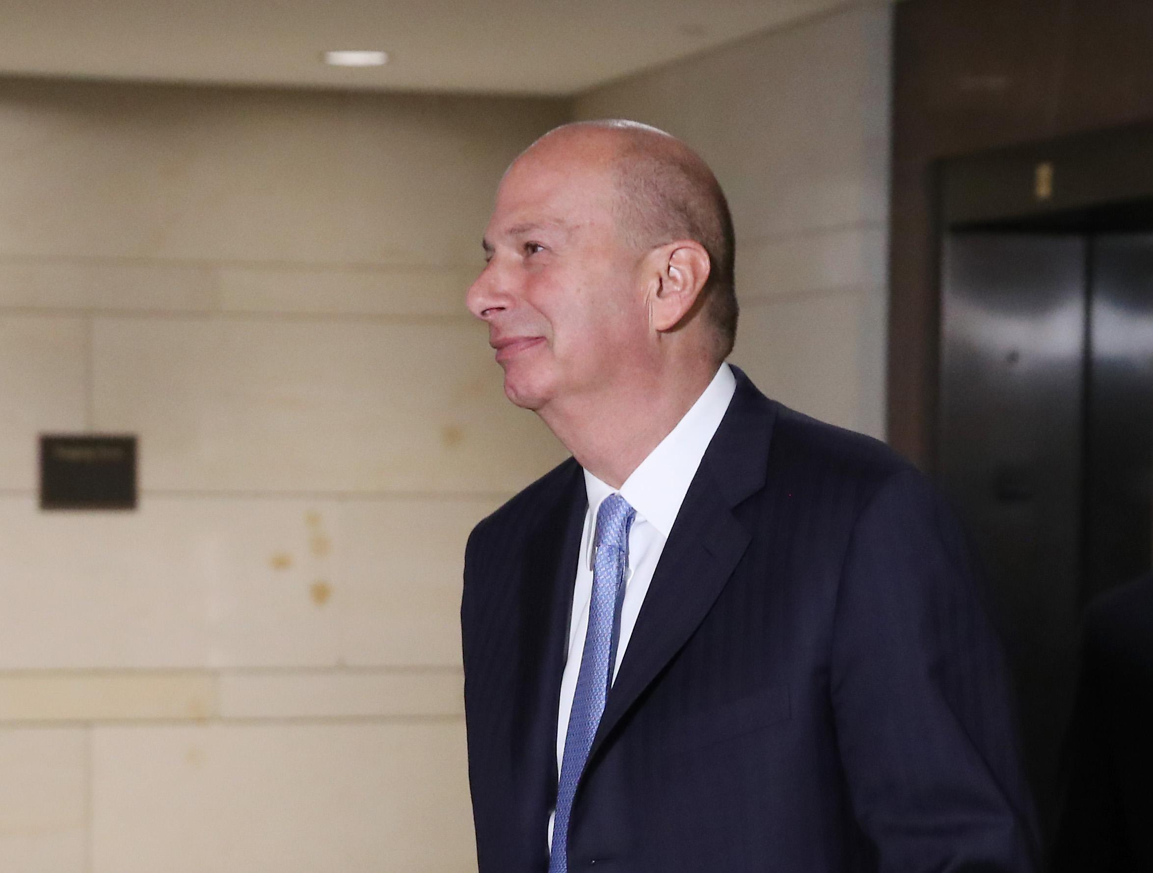 US Ambassador to the European Union Gordon Sondland at the US Capitol on October 28, 2019.