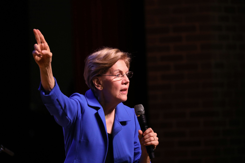Elizabeth Warren speaks at a rally in Orangeburg, South Carolina on Feb. 26.