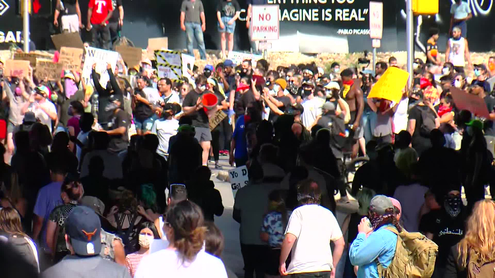 Protesters fill the streets in Austin, Texas, May 30.