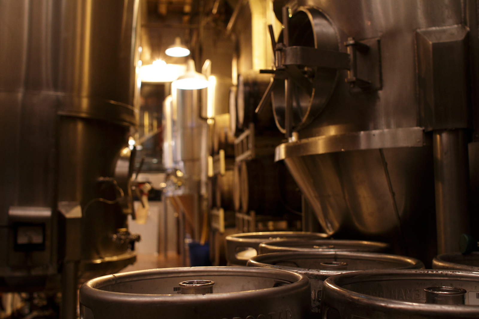 Brewing tanks are seen at the Goose Island Brew Pub in Chicago, in May 2011.