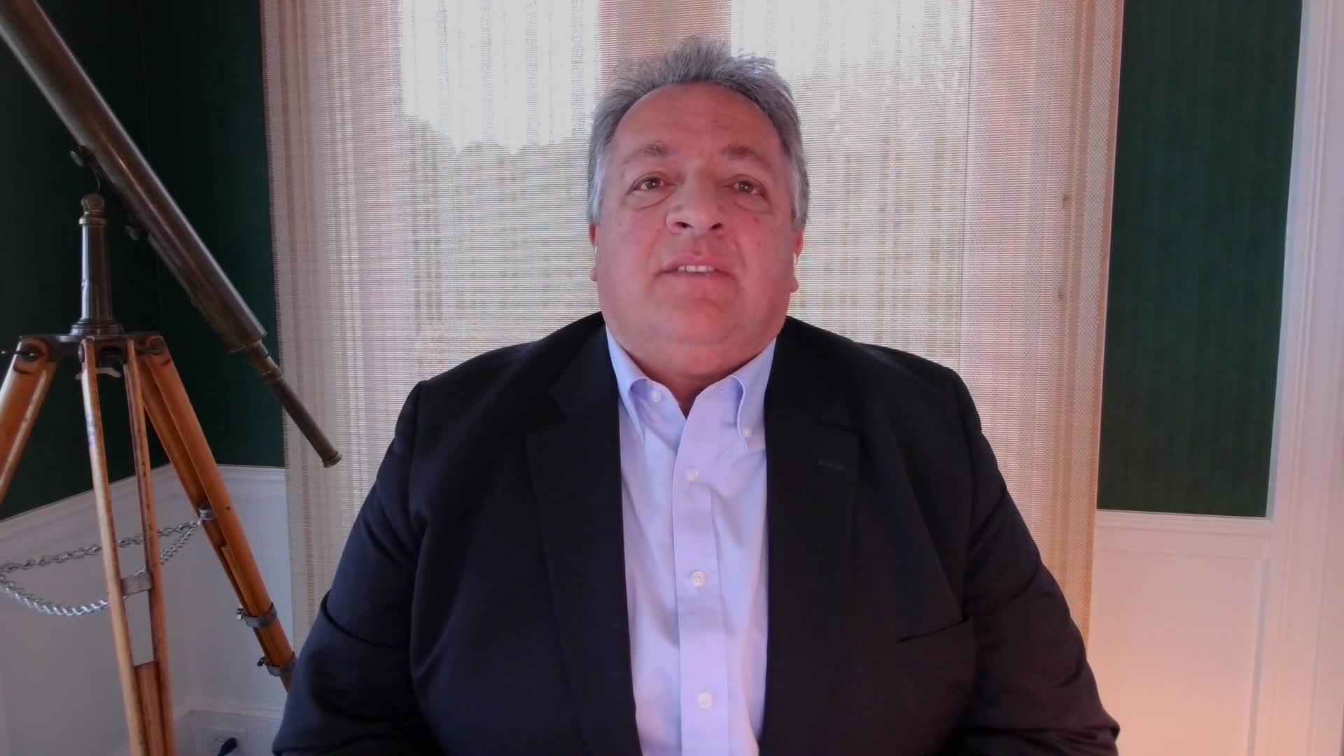 Moderna chairmanNoubar Afeyan speaks during an interview on November 30.