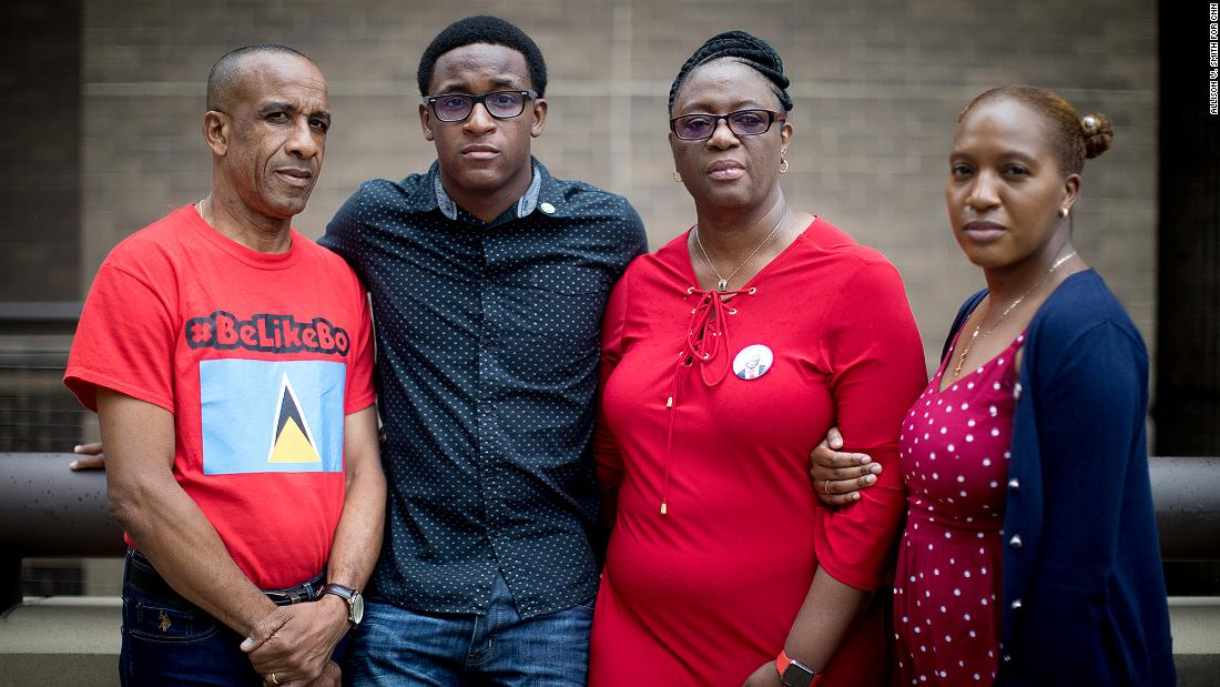 Botham Jean's family (left to right): Bertrum, Brandt, Allison and Alissa Jean.
