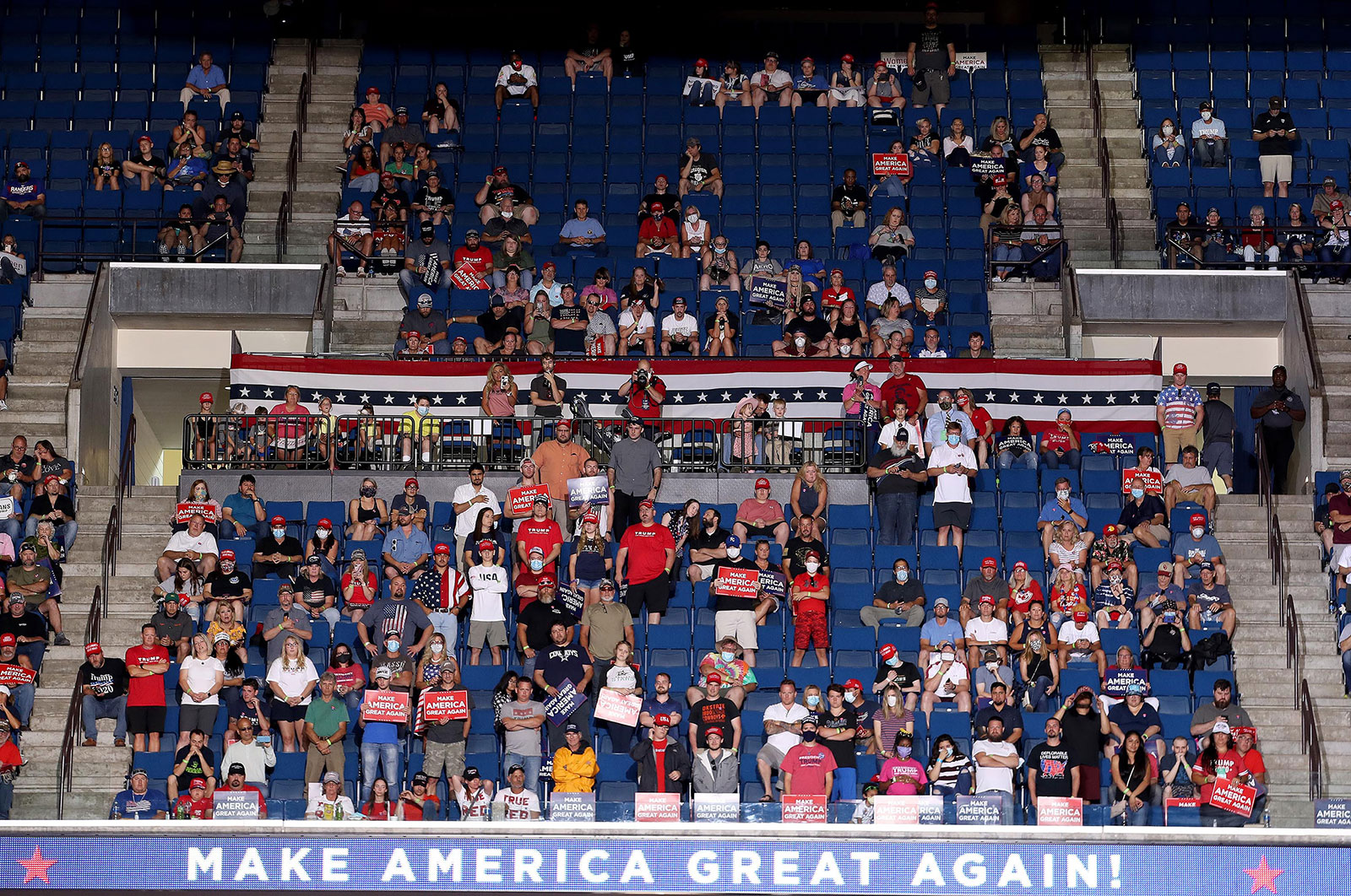 The crowd for President Trump's rally was smaller than expected.