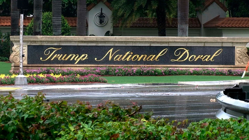 In this video screengrab from June 2, 2017, the Trump National Doral Miami Golf Club is seen in Doral, Florida.