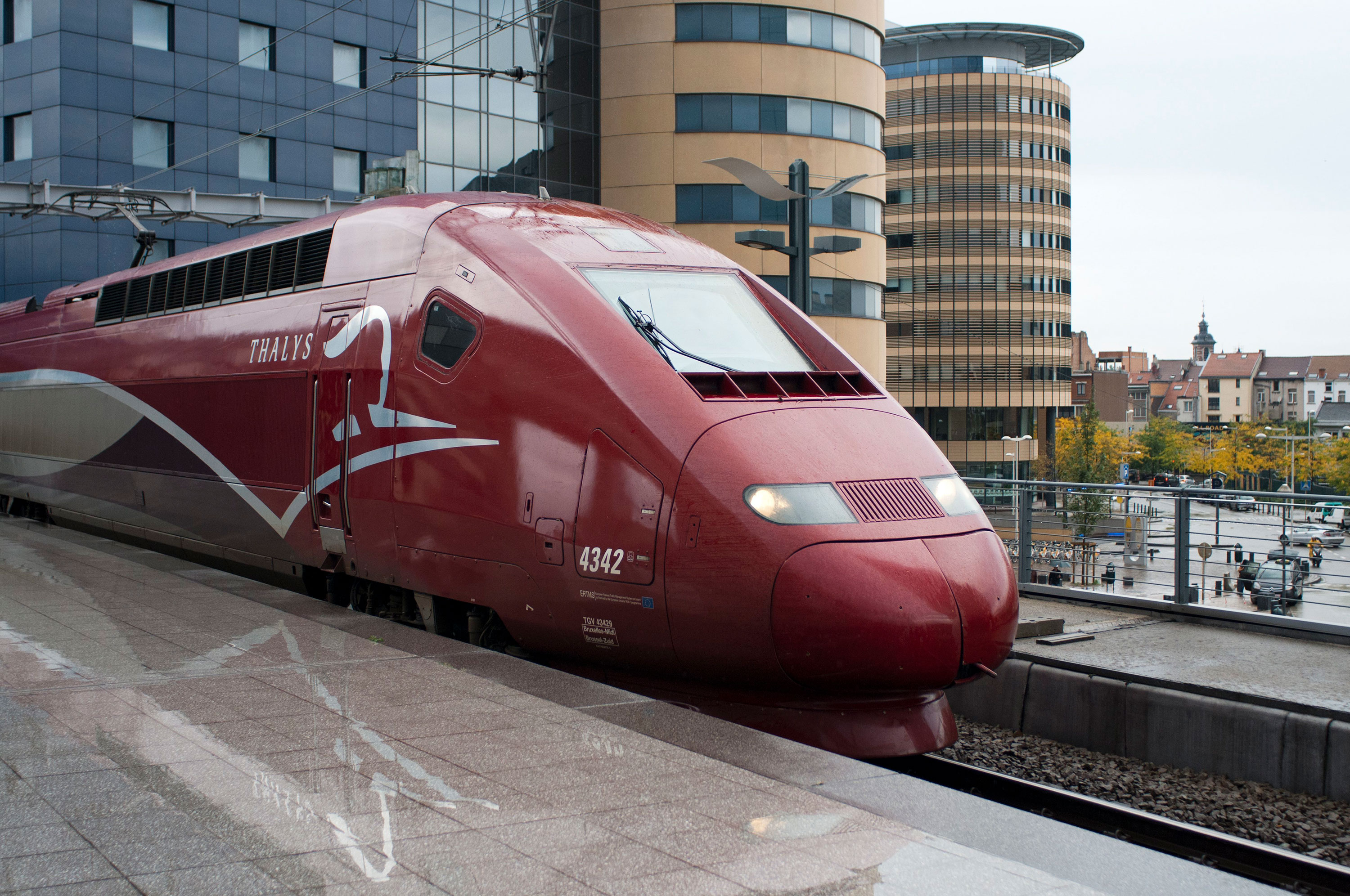A Thalys high speed train in Belgium in 2018