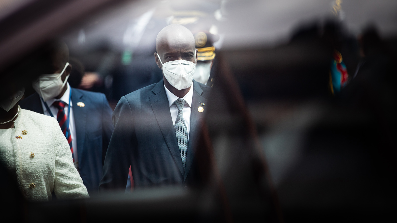 Jovenel Moise, Haiti's president, departs after an inauguration ceremony at the National Assembly in Quito, Ecuador, on Monday, May 24, 2021.