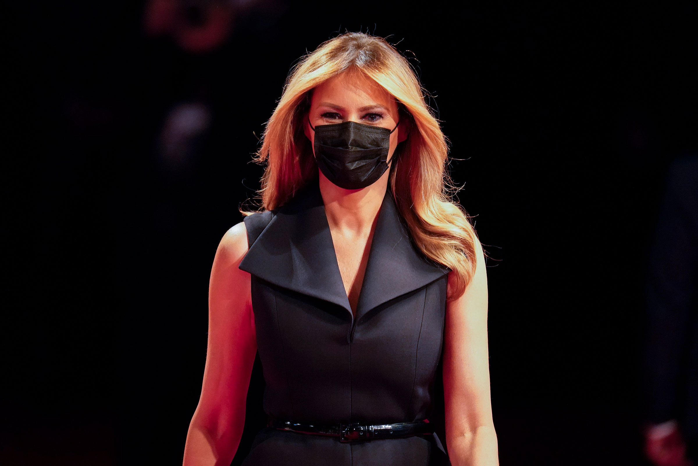First lady Melania Trump arrives at the presidential debate on October 22 at Belmont University in Nashville, Tennessee.