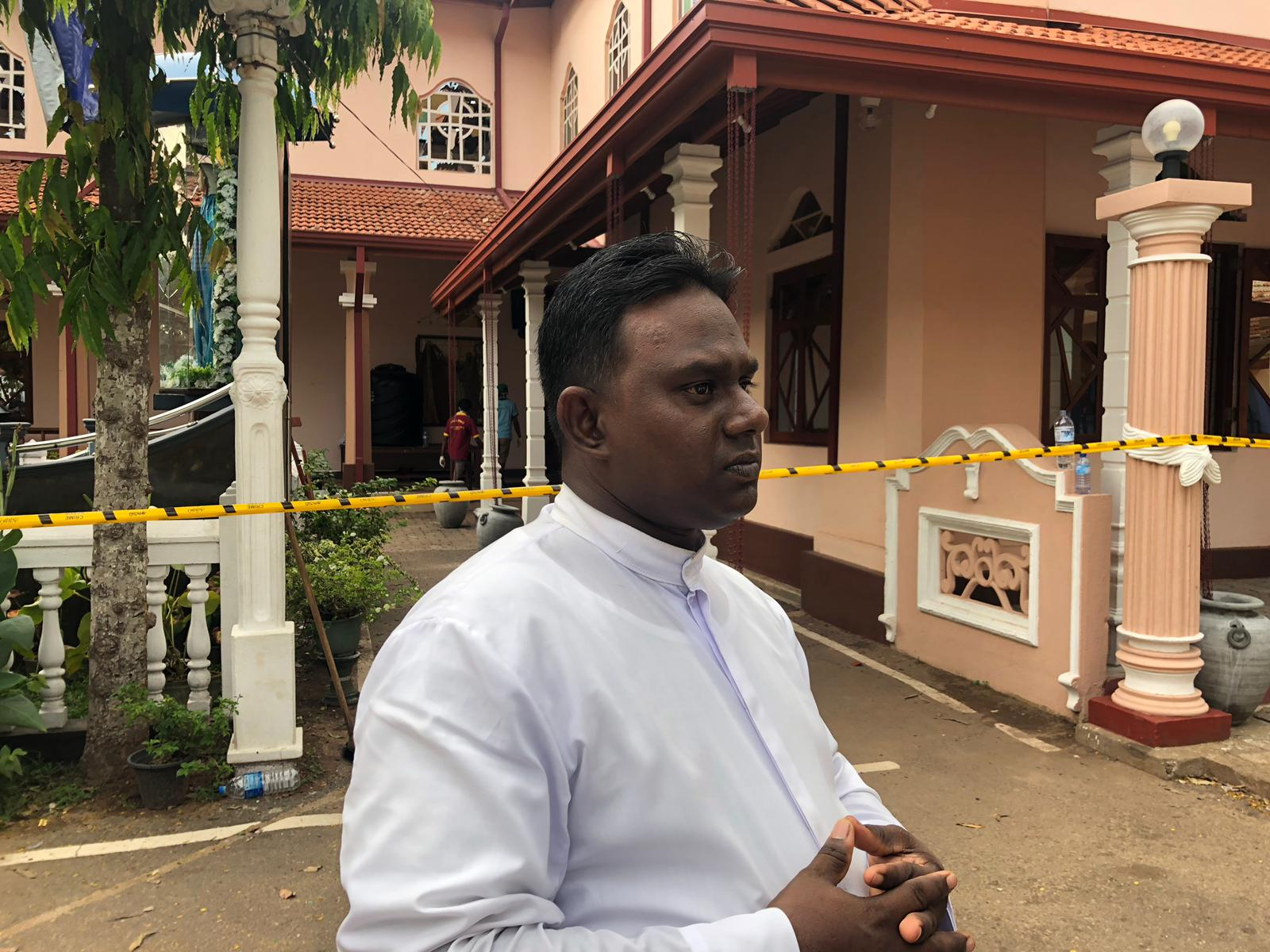 Assistant priest Sanjeewa Appuhamy was conducting the Easter Sunday service when a bomb exploded at the St. Sebastian church killing 102 people.