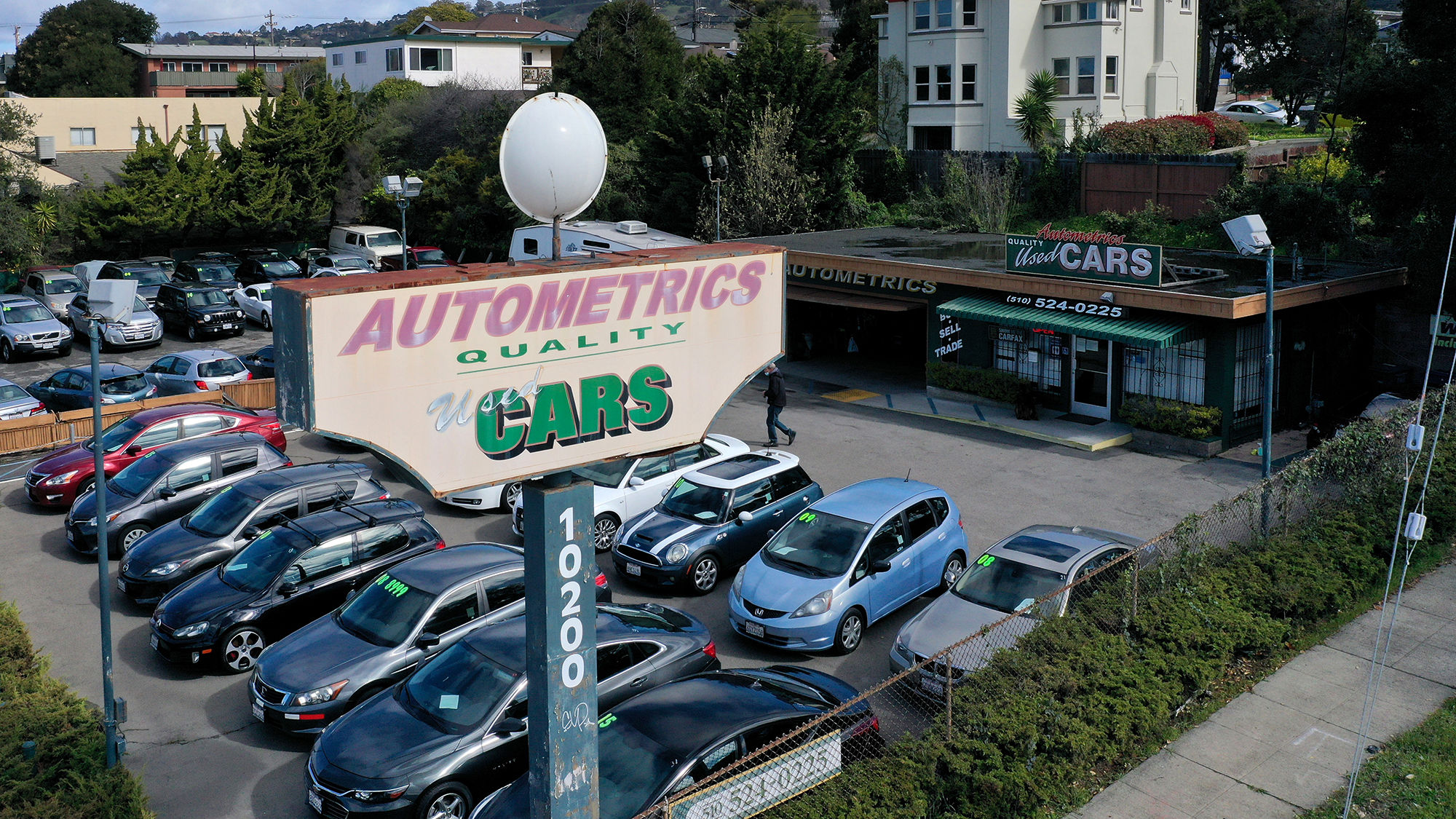 Used cars sit on the sales lot at Autometrics Quality Used Cars on March 15 in El Cerrito, California.